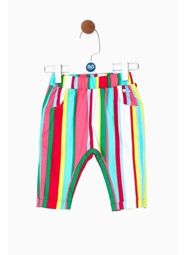 BG Baby Kız Bebek Çizgili Pantolon 19SS0BG2217 Renkli